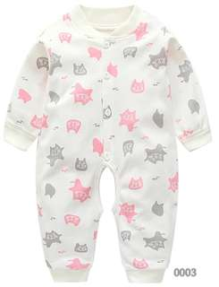 BABY long sleeve pyjamas (Ready stock) 100% cotton