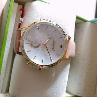 美國現貨🇺🇸 全新粉紅皮帶 Kate Spade Hybrid Smart Watch 智能手錶
