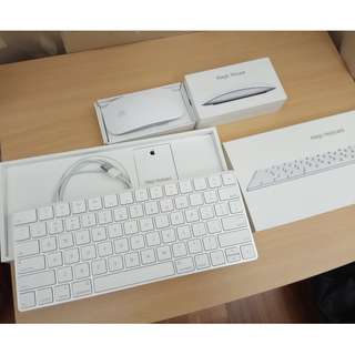 Apple Magic Keyboard 2nd gen and magic mouse 2nd gen with box