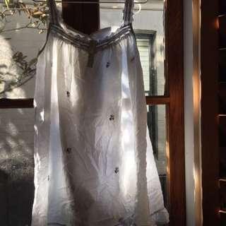 Cute white nighty style dress
