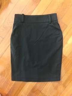 Super Sexy Secretary Tight Black Wiggle Skirt w Red Lining 10