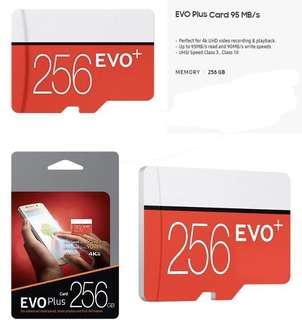 🚚 CHEAPEAST 256GB Evo micro SD memory card!