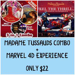 MADAME TUSSAUDS COMBO AND MARVEL 4D EXPERIENCE