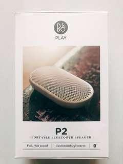 B&O P2 Bluetooth Speaker play