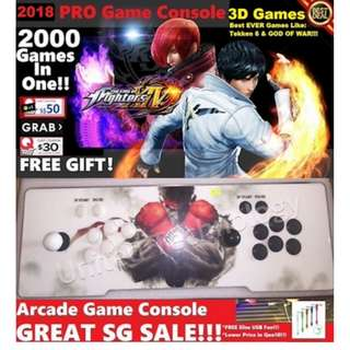 ♛★SG BEST DEAL★2000 Games Arcade Games Joystick Controller Console♛★ Play Your Fav Childhood Games!!