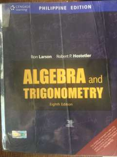 Algebra and Trigonometry eighth edition