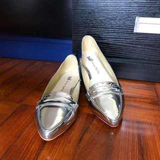 Oriental Traffic 銀色平底鞋