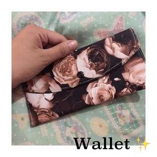 Brown Rose wallet