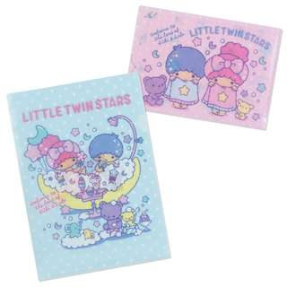 Japan Sanrio Little Twin Star's Clear File Set (Sweet Bath Time)
