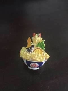 Japanese tendon tempura rice bowl miniature keychain