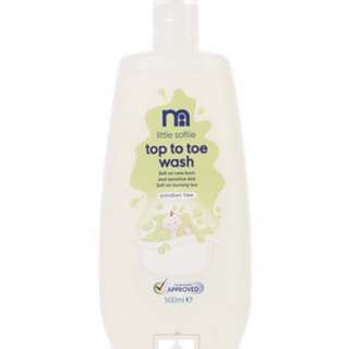 Brand New Mothercare Softie Top To Toe Wash (500ml)