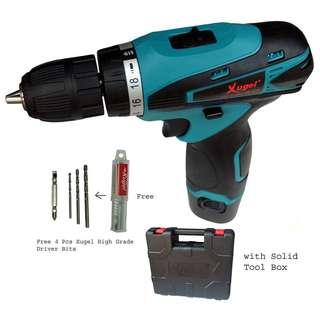 Xugel 12v KE1012S cordless drill with drill bit