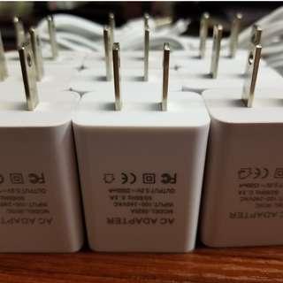 9個 5V/1500mA USB 火牛 連 MicroUSB線,適用於各種電子器材