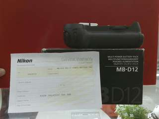 NIKON BATTERY GRIP MB12. Original Nikon Malaysia Warranty
