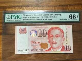 Singapore Portrait $10 UNC MU222222 note