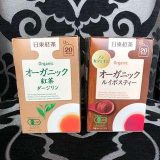 🚚 日本日東紅茶有機國寶茶 有機大吉嶺紅茶