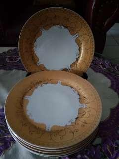 Jual piring kue ceper Bistro diamtr 25 cm ada 6 pc