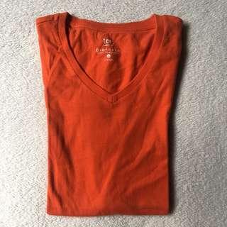 Giordano orange shirt