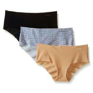 Calvin Klein Women's Invisibles Hipster Panty ( CK underwear 女裝隱形內褲 3條裝 )
