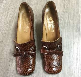 Croc leather italian shoes