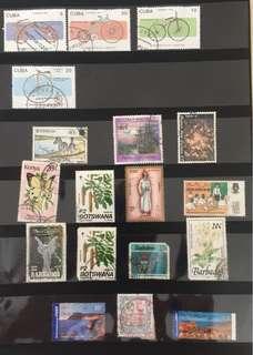 Stamps - Cuba, Botswana, Australia
