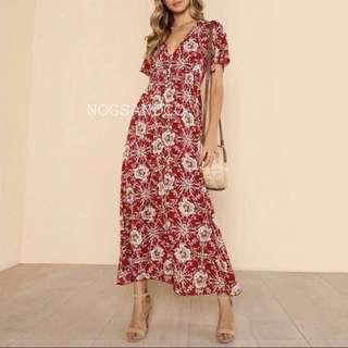 NC1048 Floral Maxi Dress