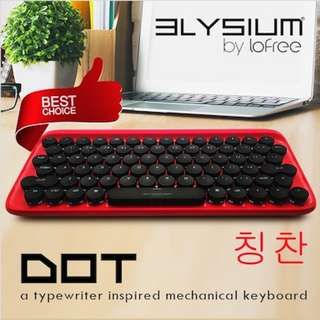 Elysium Dot! The 1st MAC + IOS + Win COMPATIBLE Bluetooth Mechanical Keyboard. Pair Up to 3 Devices. Wired / Wireless Dual Mode. Easy Switch Between Devices! Coupon Applicable!