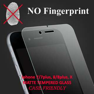 🚚 Matte Premium Tempered Glass For Iphone 7/7plus, 8/8plus, X