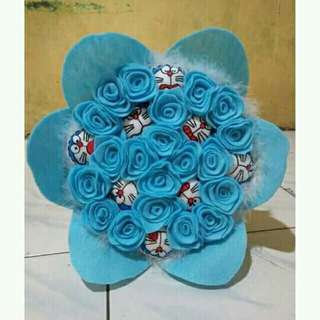 Bucket bunga boneka full 1 layer