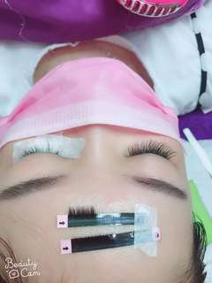 睫毛嫁接 eye lashes extension