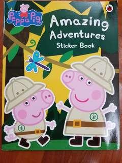 全新Peppa Pig Amaxing Adventure sticker book (原價$96)