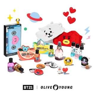 BT21 BTS Olive young NO EMS FEES tata cooky chimmy koya mang shooky rj