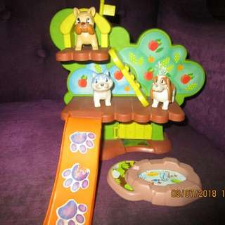 3Dogs  In The Tree House