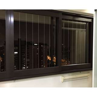 Sliding Invisible Grille for Window