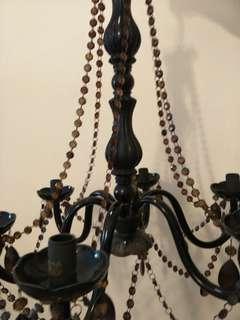 Maroonish black acrylic crystal chandelier