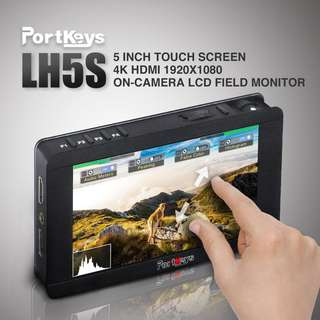 🚚 Portkeys LH5S 5 inch Touch screen Monitor with Camera Control Module For Sony, Canon, Blackmagic and Panasonic Cameras