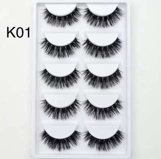 (PO) 5 Pairs/Pack Visofree Eyelashes Fur Friendly Styles Mink Lashes