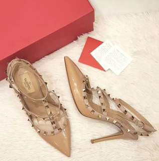 Valentino High Heel Size 38 1/2 ❤BIG SALE P29k ONLY❤ In excellent condition  With box & card Swipe for detailed pics