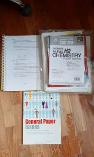 A LEVEL CLEARANCE BUNDLE (GP, h2 math, h2 chem; more than 5 items!) WITH FREE BROADER PERSPECTIVES