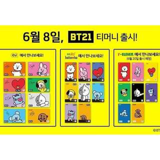 BT21 BTS Tmoney card t-money