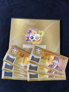 CIA Singapore & Brunei Commemorative $50 Sets With 3 Run