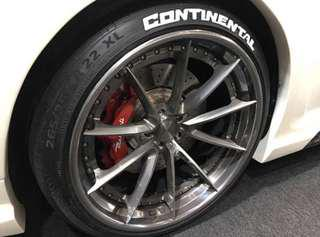 Continental Tire Stickers >> Tire Lettering Car Accessories Carousell Singapore