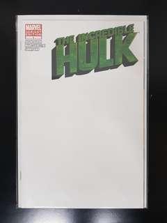 The Incredible Hulk (2011) #1 Blank Variant