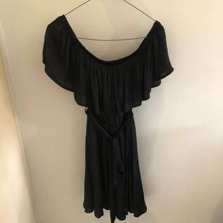 Bardot Black Off Shoulder Dress, Never Worn