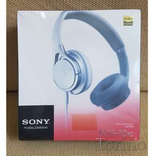New Sealed Box Sony MDR-10RC White On-Ear Headphones / Headset