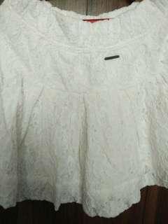 Floral white skirt