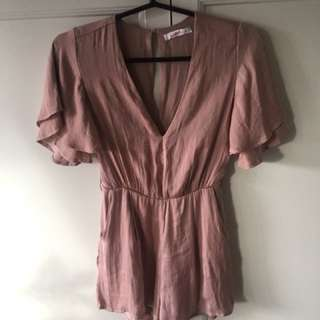 Silky pink supre playsuit