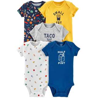 CABY125 Carter's 5-Pack Food Original Bodysuits