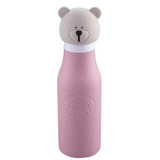 【台灣 Starbucks 粉Bearista不鏽鋼水瓶】星巴克 台灣代購 保溫杯 保溫瓶 不鏽鋼 瓶