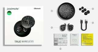 PAMU 防水無線耳機 - 黑色